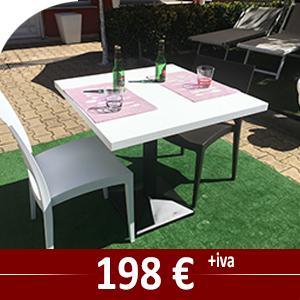 Set composto da tavolo cm 70 x 70 cm con 4 sedie